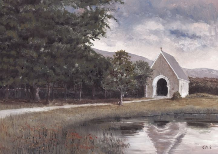 Gougane Barra - Reflections - © 2012 Gougane Barra, Macroom, Bantry, Oil, Church, St Finbarr, Cork, River Lee, Tailor, Micheal O Muirthile, michealomuirthile.com, Weddings Online Artworks