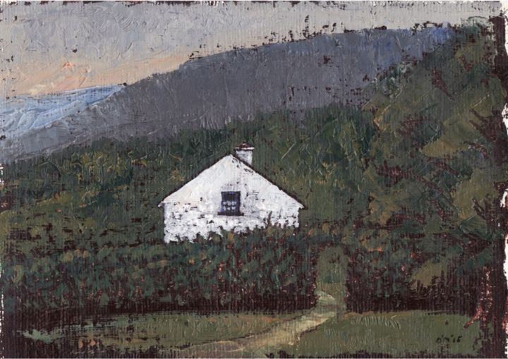Peaceful Cottage near Killarney - ©  Cottage, Killarney, Landscape, Kerry, michealomuirthile, Kenmare, purcell gallery Online Artworks