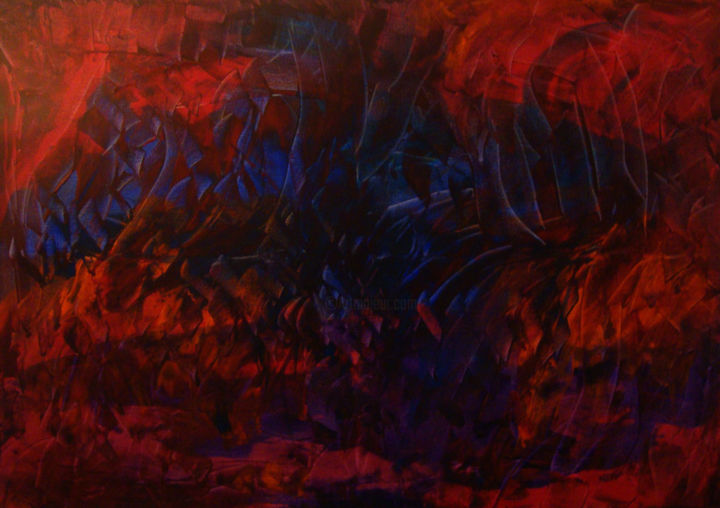 Apparition - Painting,  31.9x45.7 in, ©2019 by Michel Aucoin -                                                                                                                                                                          Abstract, abstract-570, Abstract Art