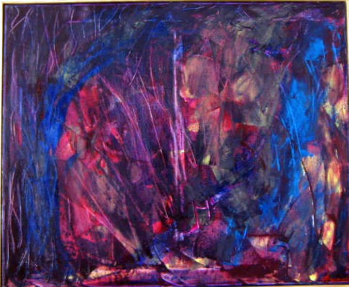 Pierre philosophale - Painting,  60x73 cm ©2009 by Michel AUCOIN -                                                        Abstract Art, Canvas, Abstract Art