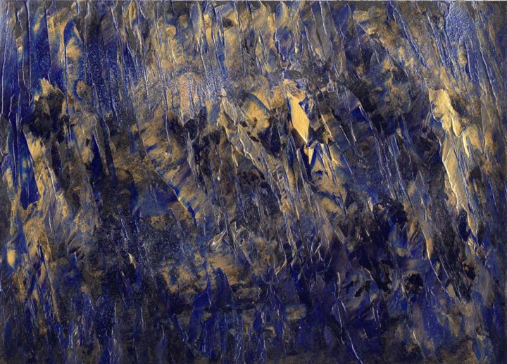 Forêt enchantée - Painting,  21x30 cm ©2010 by Michel AUCOIN -                                                        Abstract Art, Paper, Abstract Art