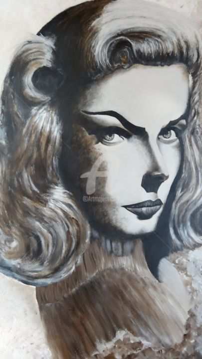 dsc02291.jpg / LAUREN BACALL / PHOTO DEUX - Peinture,  31,5x23,6 in, ©2015 par Michelangelo  Galia  Da Pedone -                                                                                                                                                                                                                                                                                                                  Conceptual Art, conceptual-art-579, artwork_cat.Pop Culture / Celebrity, Célébrité, CULTURE POPULAIRE / CELEBRITEE, PEINTURE