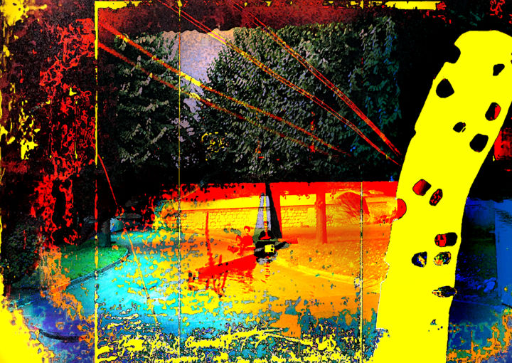 navigation du Docteur Faustroll - Digital Arts, ©2019 by Michel TABANOU -                                                                                                                                                                                                                                                                                                                                                                                                                                                                                                                                                                                                                                      Expressionism, expressionism-591, Boat, Culture, Water, History, Nature, Alfred Jarry, Docteur Faustroll, Faustroll, navigation, voyage, travel
