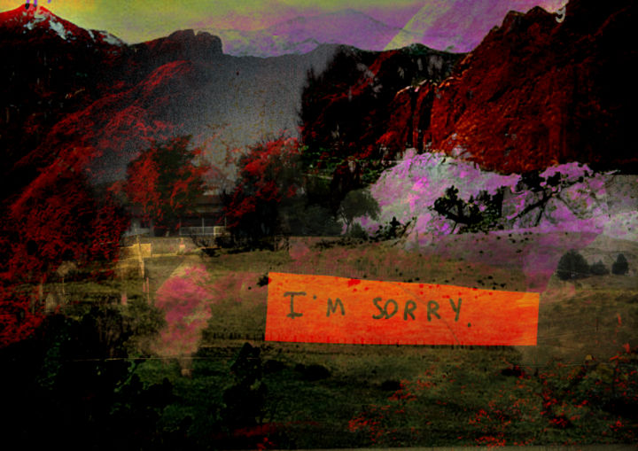 I'm sorry - Digital Arts, ©2018 by Michel TABANOU -                                                                                                                                                                                                                                                                                                                                                                                                                                                                                                                                                                                                                                                                                  Expressionism, expressionism-591, Tree, Colors, Light, Nature, Landscape, sorry, nature, landscape, colors, lights, trees, I'm sorry