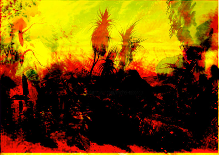 nature studie wyoming - Digital Arts, ©2020 by Michel Tabanou -                                                                                                                                                                                                                                                                                                                                                                                                                                                                                                                                                                                                                                                                                                                              Expressionism, expressionism-591, Tree, Colors, Nature, Landscape, Travel, wyoming, usa, landscape, nature, travel, voyage, ecologie, ecology
