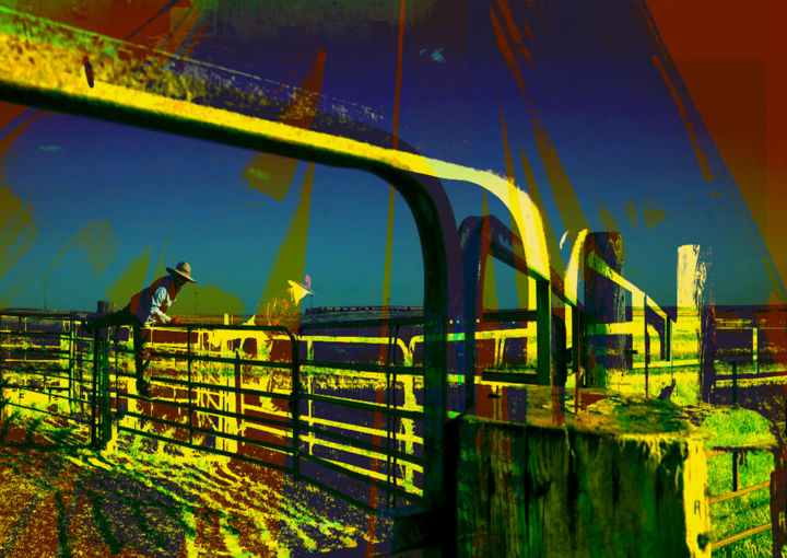somewhere in North Dakota - Digital Arts, ©2020 by Michel Tabanou -                                                                                                                                                                                                                                                                                                                                                                                                                                                                                                                                                                                                                                                                                  Expressionism, expressionism-591, Colors, Nature, Landscape, Travel, North Dakota, ecology, nature, travel, voyage, climate change, pollution, industry