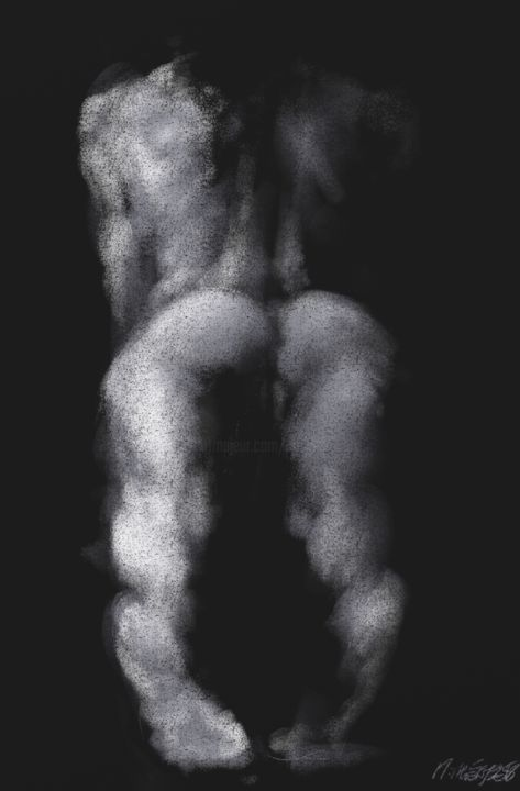 nesie-0008-02.jpg - Digital Arts, ©2015 by Michel THIERY (By Daesyl arts) -                                                                                                                                                                                                                                                                                                              Figurative, figurative-594, Body, Women, Light, Nude