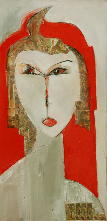 """Painting titled """"Marianne"""" by Michèle Bethencourt, Original Art, Oil"""