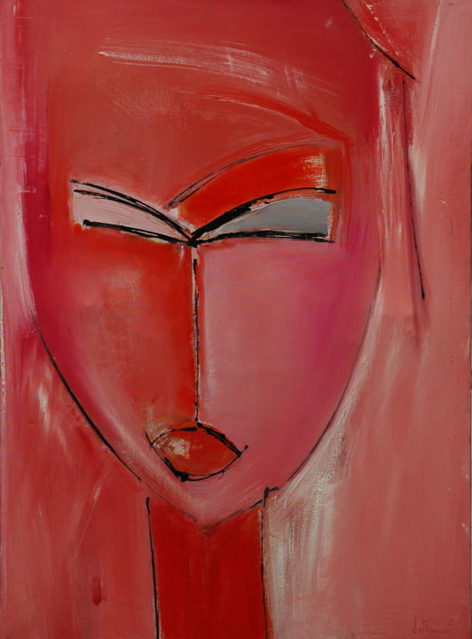 """Painting titled """"Lise"""" by Michèle Bethencourt, Original Art, Oil"""
