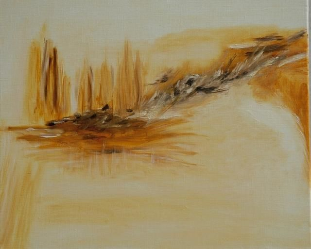 10.11.2005 - Painting,  18.1x21.7 in, ©2005 by Michèle Caspar -                                                                                                                                                                                                                                                                                                                                                                                                                                                  Abstract, abstract-570, Huile sur toile, abstrait, abstraction, lyrique, couleurs, lumière, paysage