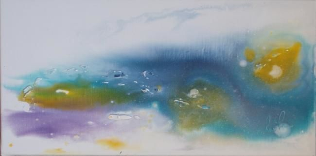 Painting,  20 x 40 cm ©2010 by Michèle Caspar -  Painting, Abstract Painting, Huile sur toile