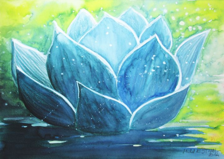 Fleur De Lotus Painting By Michel Estival Artmajeur
