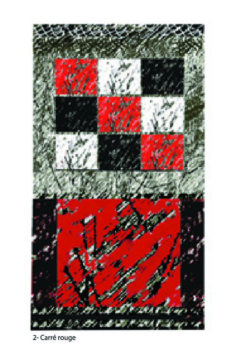 """Digital Arts titled """"2-carre-rouge-copy.…"""" by Micheline Couture, Original Art,"""