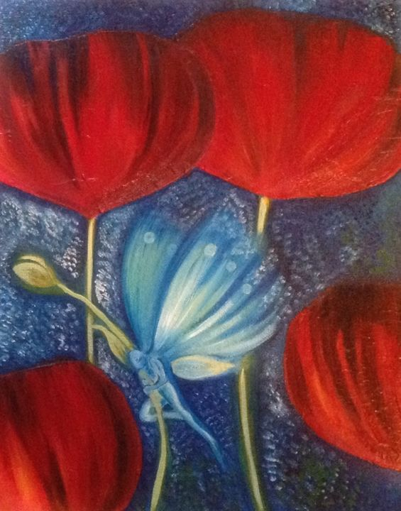 """Painting titled """"When Love Is Lost"""" by Michelle Soden-Gilkes, Original Art, Oil"""