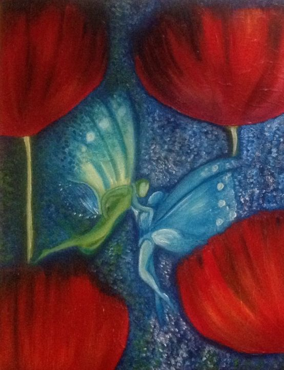 """Painting titled """"Stay With Me"""" by Michelle Soden-Gilkes, Original Art, Oil"""