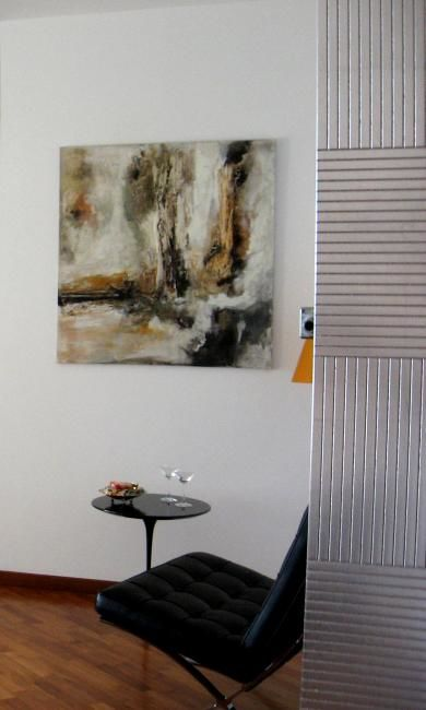 solitudine - Painting,  100x100 cm ©2011 by Michelle Hold -