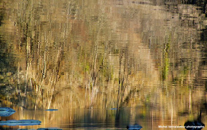 Miroir impressionniste - Digital Arts ©2019 by Michel Verna -                                                                    Environmental Art, Water, Light, Nature, Monet, impressionniste, petite creuse, Fresselines