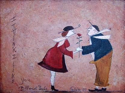 """Painting titled """"I think I like you"""" by Mieke Van Steenbergen-Rijkers, Original Art, Oil"""