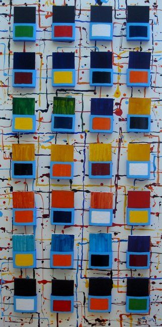 Cuadro interactivo II - Painting,  122x60 cm ©2007 by Mi-guel -