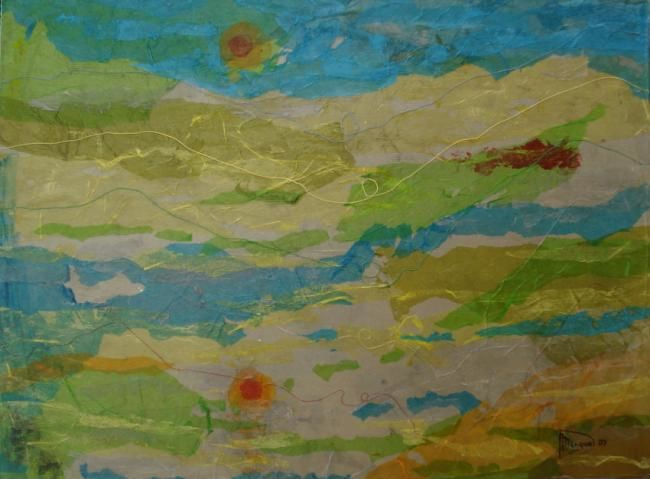 Reflejos - Painting,  17.7x24 in, ©2003 by Mi-Guel -