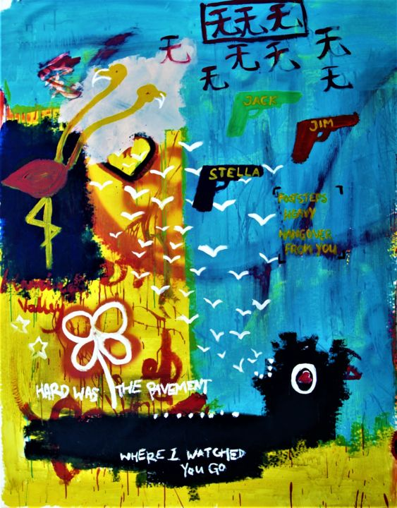 """Painting titled """"Easy was the road t…"""" by Mikael Teo, Original Art, Acrylic"""