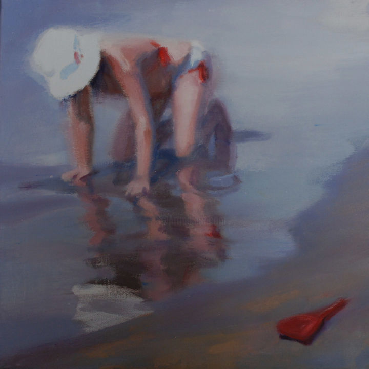Reflejo - Painting, ©2014 by Milagros Ferrer -                                                                                                                                                                          Figurative, figurative-594, Huile sur toile