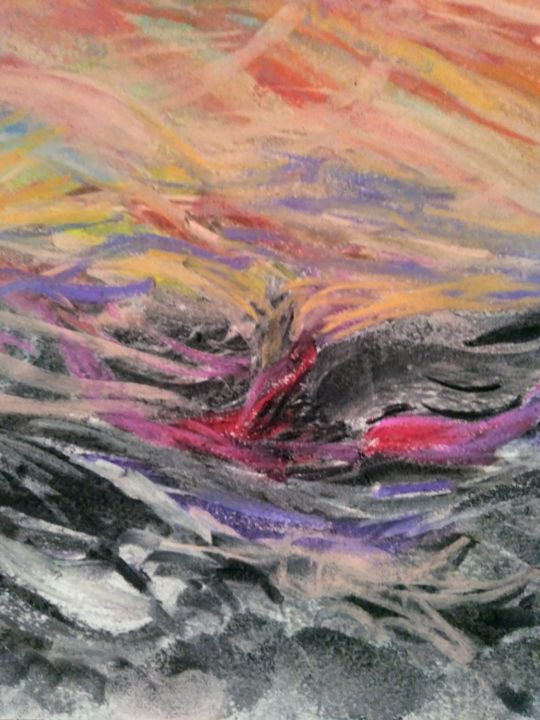 Mare in tempesta - Painting,  33x48 cm ©2018 by Milena Aere -