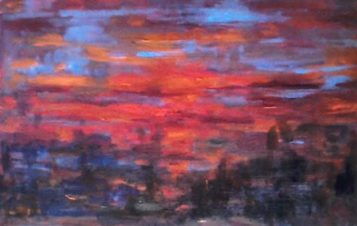 abstract3.jpg - Painting,  0.8x9.8x11.8 in, ©2014 by Milla -                                                                                                                                                                                                                                                                                                                  Abstract, abstract-570, Landscape, paesaggio, astratto, milla
