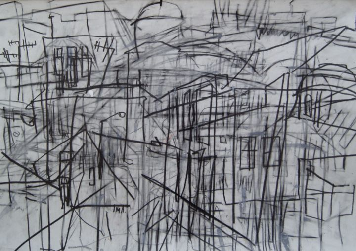 """Drawing titled """"Prostor III"""" by Milos Panovic, Original Art, Other"""