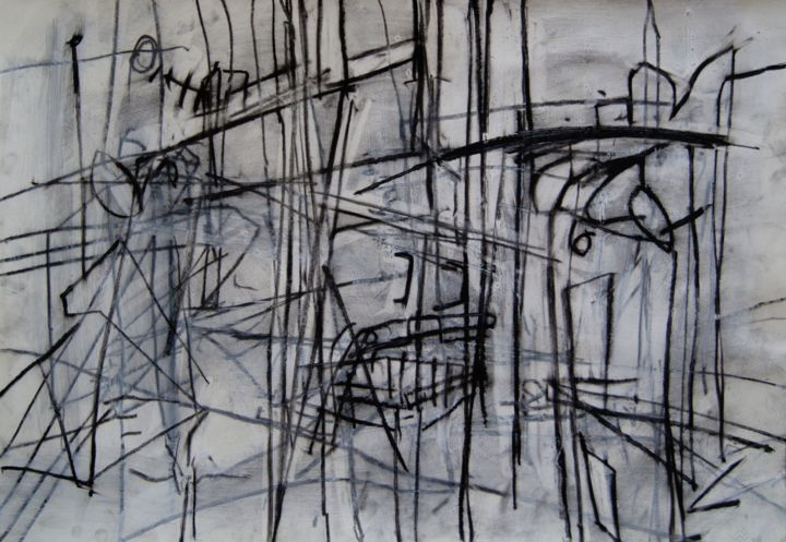 """Drawing titled """"Prostor II"""" by Milos Panovic, Original Art, Other"""