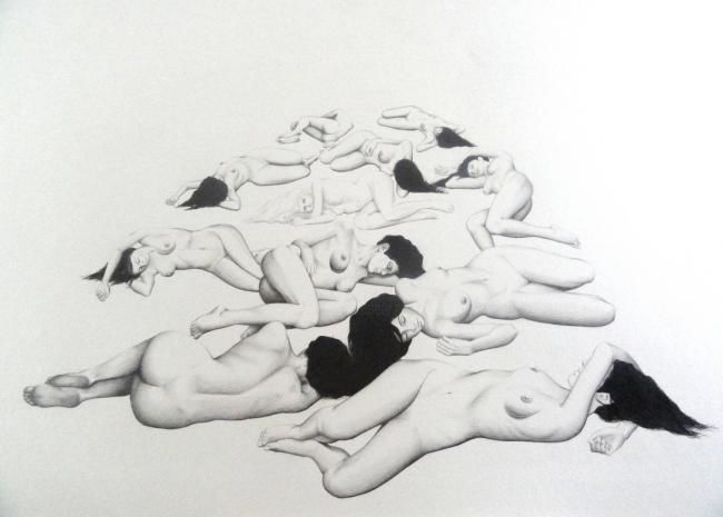 NUES - Drawing, ©2012 by Taras-Danilov Milosevic -                                                              NUES