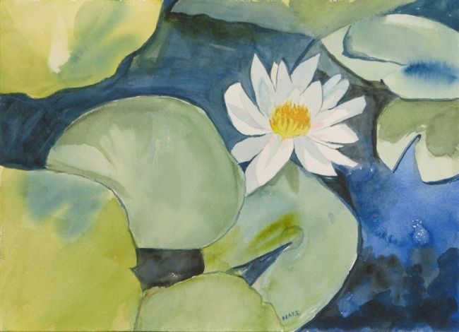 """Painting titled """"Lilypads"""" by Carol Hare, Original Art,"""