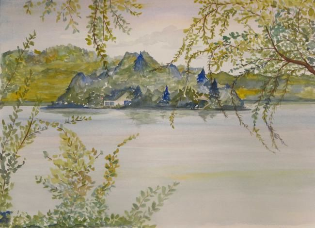 """Painting titled """"View from Sears Park"""" by Carol Hare, Original Art,"""