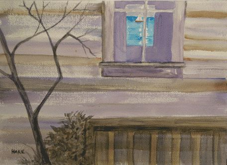 """Painting titled """"Through the Window"""" by Carol Hare, Original Art,"""