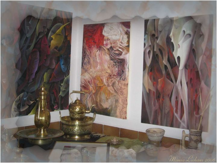 Galerie Mimia. - Painting,  0.4 in, ©2013 by Mimia Lichani -
