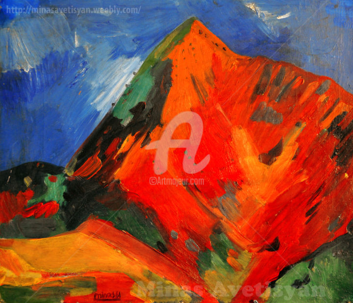 Minas Avetisyan-Mount Yeranos - Painting, ©1961 by Minas Avetisian -                                                                                                                                                                                                                                                                                                                                                                                                                                                                                                                                                                                                                                                                                                                                                                                                                                                                                                                                                                                                          Abstract, abstract-570, Other, Asia, Time, World Culture, Landscape, Travel, minasAvetisyan, MinasAvetisian‬, ‎МинасАветисян, minasavedisian, ՄինասԱվետիսյան‬, MinasAveisyanNkarner, Jajur‬, Hayastan, MountYeranos, Yeranos, armenia, historyarmenia‬, Fineart