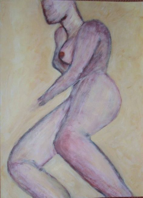 Nue - Painting, ©2008 by Monique Savy -