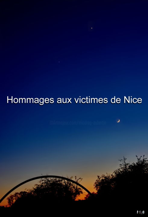 Hommage aux victimes de Nice - Photography, ©2016 by Miodrag Aubertin -                                                                                                              People, Hommage aux victimes de Nice