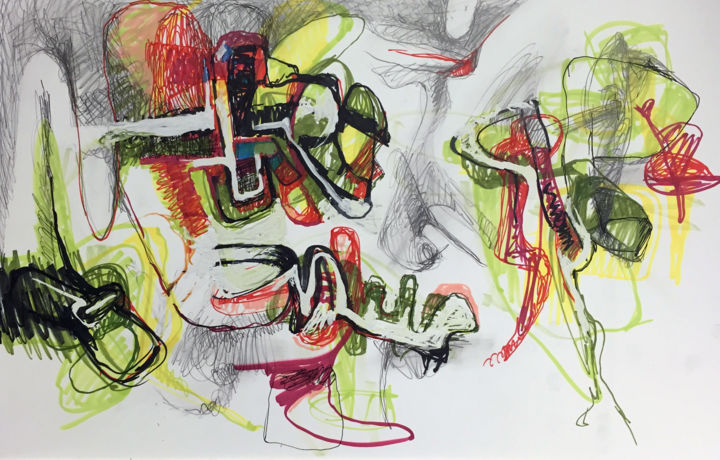 """Drawing titled """"responsive-curiosit…"""" by Michael Ioffe, Original Art,"""