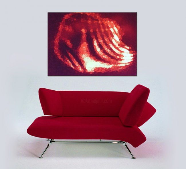 """Painting titled """"Red Shell"""" by Mirabella, Original Art,"""