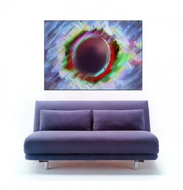 """Painting titled """"Purple Abduction"""" by Mirabella, Original Art,"""