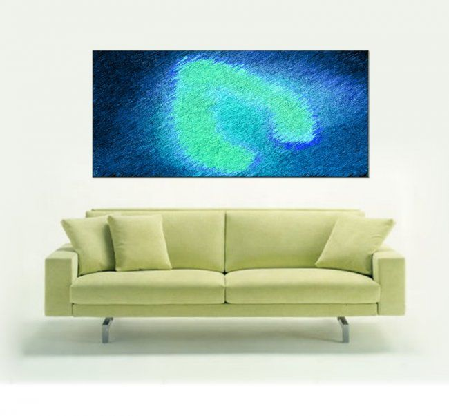 """Painting titled """"Lime Thread"""" by Mirabella, Original Art,"""
