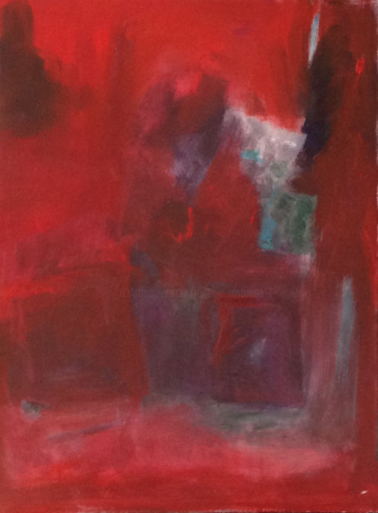 SANS TITRE 2014/ 2 - Painting,  24x18.1 in, ©2014 by mireille matricon -