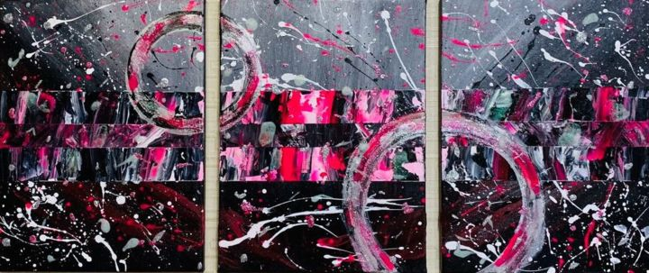 Dimension - Painting,  40x90x1.5 cm ©2019 by Nia Natsvlishvili -                                        Abstract Expressionism, Abstract Art