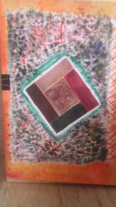 """Painting titled """"My Designing"""" by The K.H Artist, Original Art, Acrylic"""