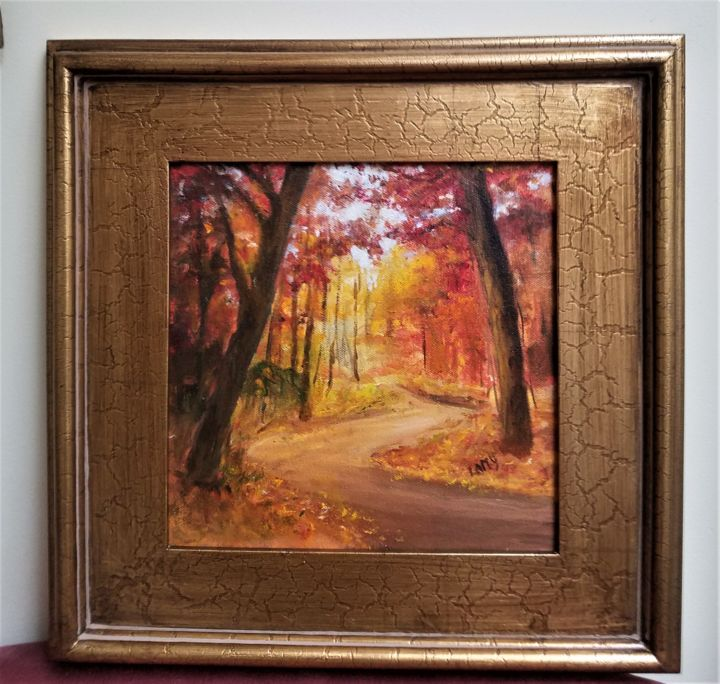 """Painting titled """"Peaceful Path"""" by Marilyn Lamy, Original Art, Oil"""