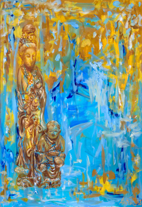 """Painting titled """"Fairy and Immortal…"""" by Mk Anisko, Original Art, Oil"""