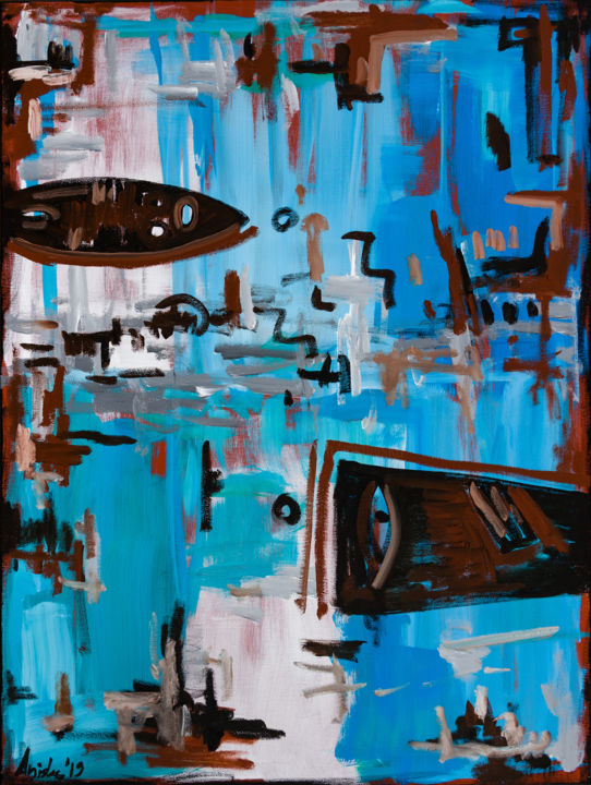 Painting, oil, abstract, artwork by Mk Anisko