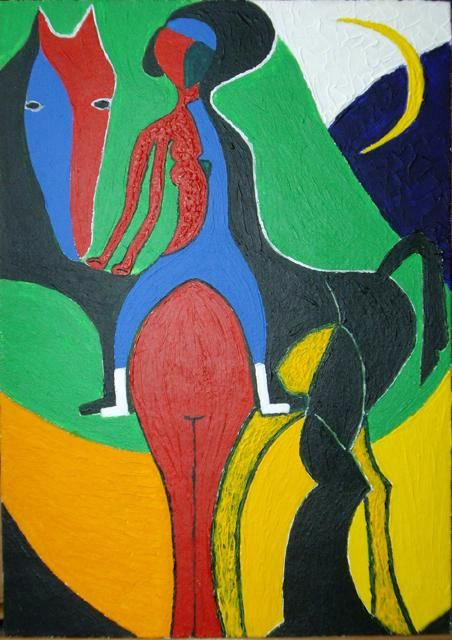 Painting,  25 x 35 cm ©2011 by Bo -  Painting
