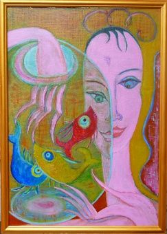 Three wishes. - Painting,  35x50 cm ©2012 by Bo -